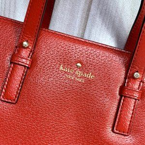 kate spade Bags - |•KATE SPADE•| Med. Gorgeous Red Satchel/Crossbody